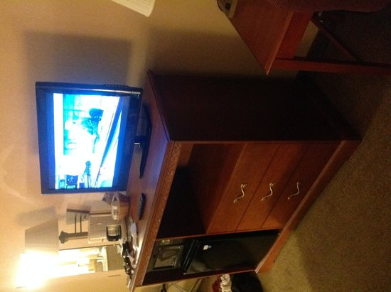 Quality Inn Cedar Point: TV, Stand, Microwave, Coffee Maker, Refrigerator