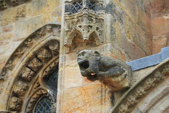 Rosslyn Chapel : En av gargoylerna