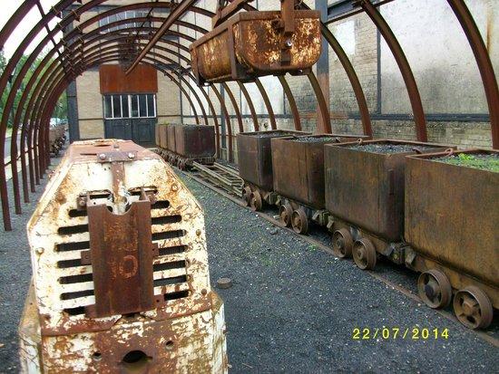 Musee de la Mine: derniére évolution de double rail dans galerie