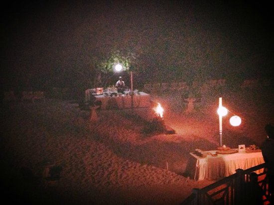 Iberostar Rose Hall Beach Hotel: Bonfire by the beach