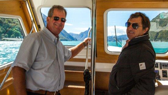 Boat Center Palace Lugano: Inside cabin with Kurt