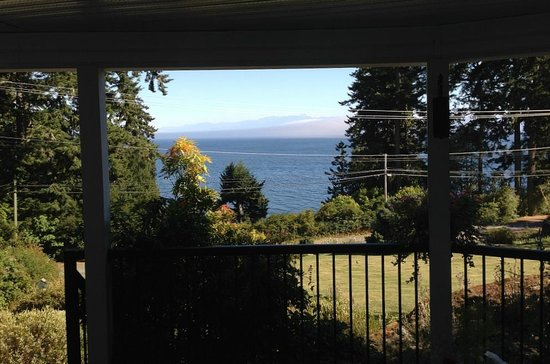 4 Beaches Bed & Breakfast : View through window of Mystic Beach room