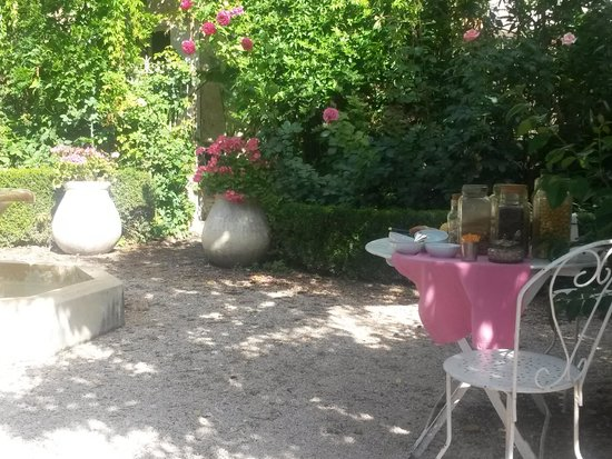 La Nesquiere : jardin