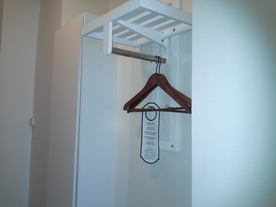 """Hotel Slottshotellet : The only """"closet"""" there was in the room."""