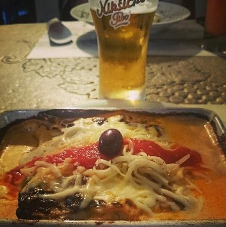 Restaurant-pizzeria  SAMBRA : Лазанья и пивасик