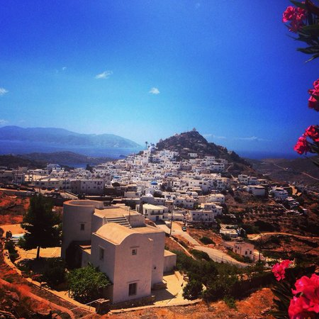 Skala Hotel : The view of Chora from Skala terrace