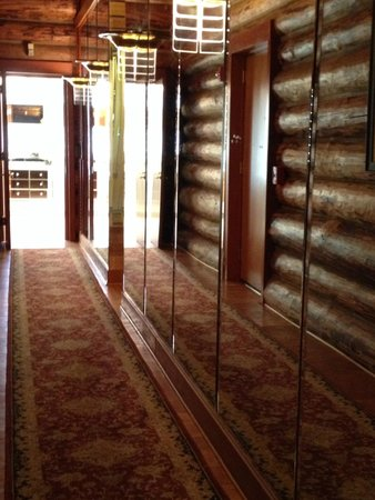 Mirrored hallway from master bedroom to master bath and closet picture of fontanel mansion Hallway to master bedroom