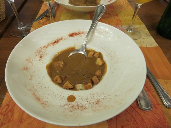 Auberge Saint Pierre: Home made lobster bisque