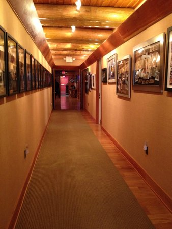 Fontanel Mansion: Another shot of gold record studded upstairs hallway