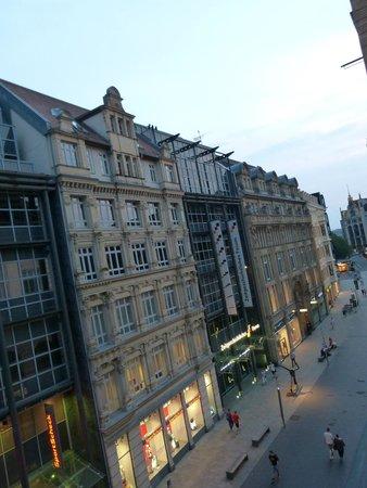 Steigenberger Grandhotel Handelshof: ein letzter Blick aus unserem Zimmer