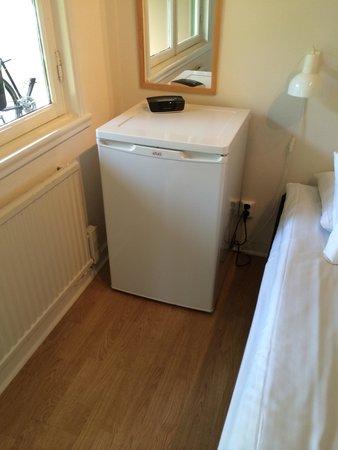 Snack Hotel Annex: Kylskåp på rummet.