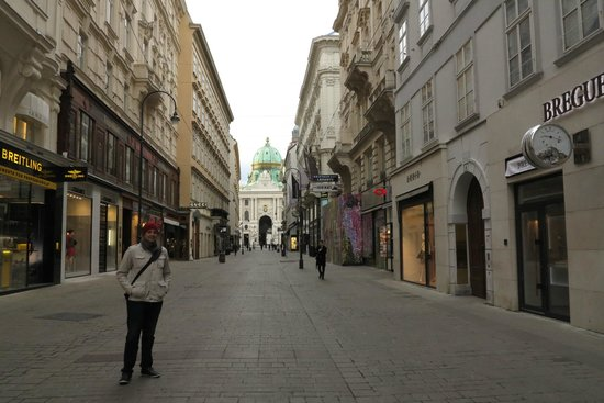 Graben and Kohlmarkt : Vista do Hofburg - Kohlmarkt