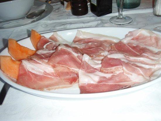 Hotel Ristorante G.L.A.V.J.C.: Prosciutto con melone