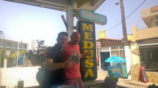 Medusa Restaurant : with Antonio - a thoroughly nice fella