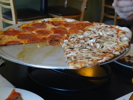 1/2 Pepperoni and 1/2 Mushroom Pizza at Veraci Pizza