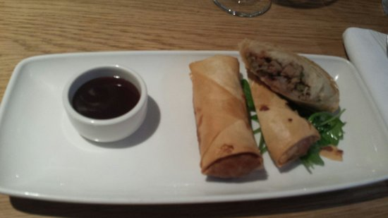 The Grill On The Alley : Duck spring rolls
