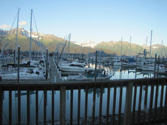 Chinooks Waterfront Restaurant: View from within the restaurant
