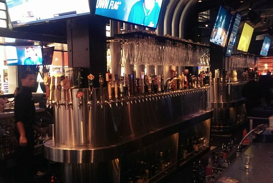 Yard House - West Nyack: a partial view of the 165 draft beers