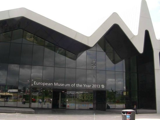 The Riverside Museum of Transport and Travel: outside of the museum