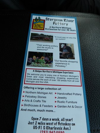 Sturgeon River Pottery : flyer