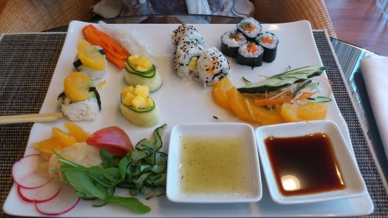 VidaMar Resort Hotel Madeira : Restaurante japonés. Sushi vegetariano