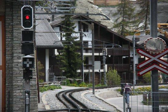 Gornergrat Bahn : just started from Zarmatt