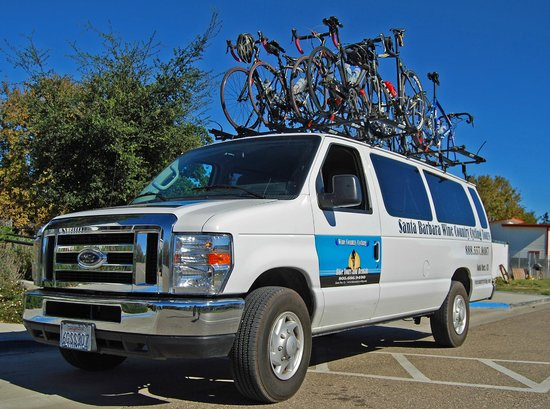 Santa Barbara Wine Country Cycling Tours - Day Tours: Our SAG Van is never too far away!.