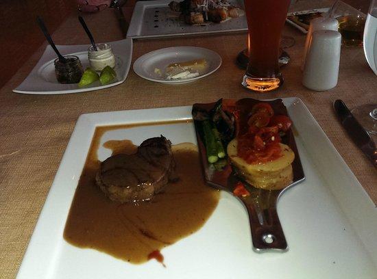 Sun Palace: Italian, Beef tenderloin, cut it with a fork.