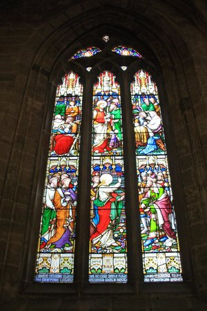 Church of the Holy Rude: One of the windows