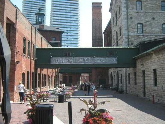 Distillery Historic District: Bridge joining two buildings