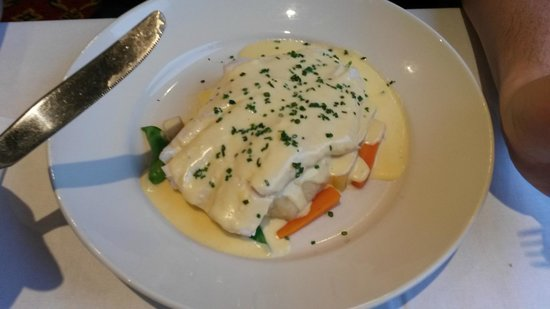 Britannia Waterside Hotel : Fish in a white sauce with veg