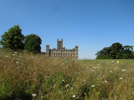 Highclere Castle: View from the meadow