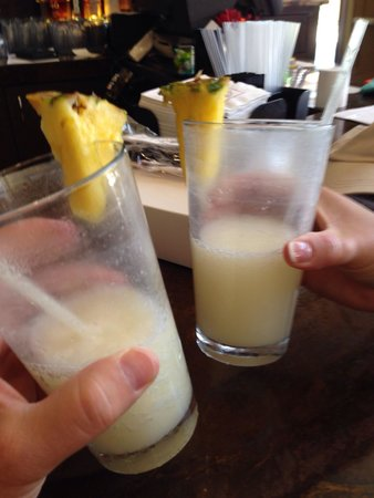Scottsdale Marriott at McDowell Mountains: Two pina coladas!  Isn't that a song?!
