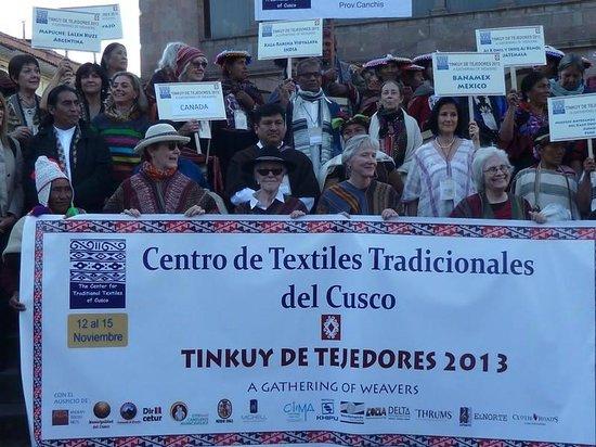 Centro de Textiles Tradicionales del Cusco: En la Inauguracn del hermoso Tnkuy
