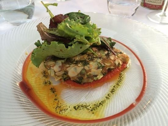 Auberge de la Madone : omelette third course