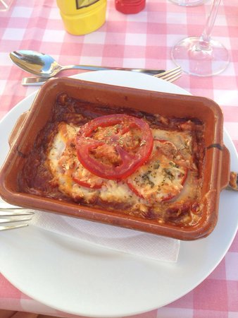 AluaSun Torrenova: Lasagne in the Italian a la carte restaurant in the hotel