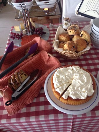 Greenmount House: Mary's breakfast buffet of breads , cakes & scones