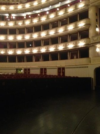 Staatsoper: from the orchestra pit