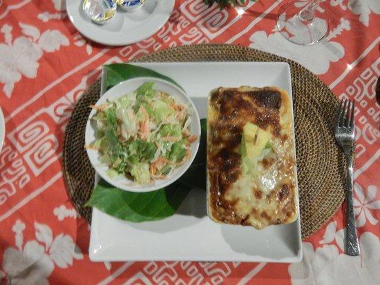 Tikehau Pearl Beach Resort : Lasagne alla bolognese... ottime!