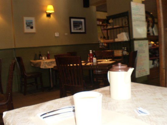 Tiverton Four Corners: A quant cozy restaurant with outdoor seating available also.
