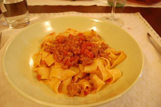 Borgo Lecchi B&B : Pasta course