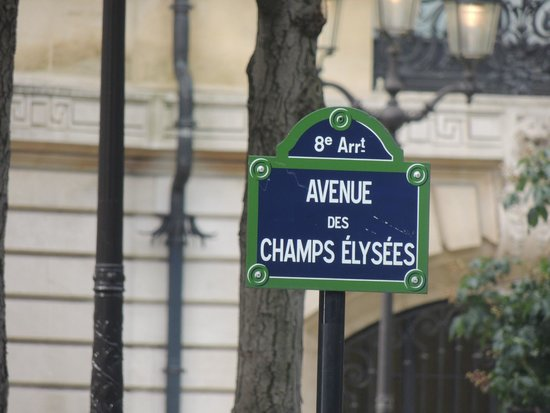 Champs-Elysees: Placa indicativa