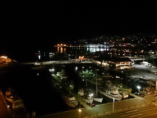 Grand Chancellor Hotel Hobart: A view from our room at night