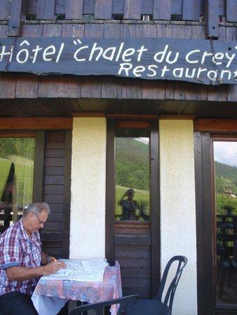 Hotel Chalet du Crey: het terrasje