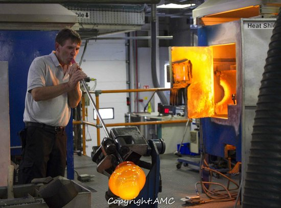 Waterford Crystal: glass blower at work