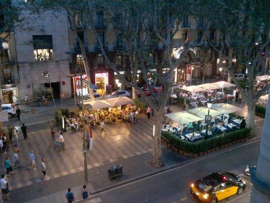 Las Ramblas : Vista do Hotel Fornos.