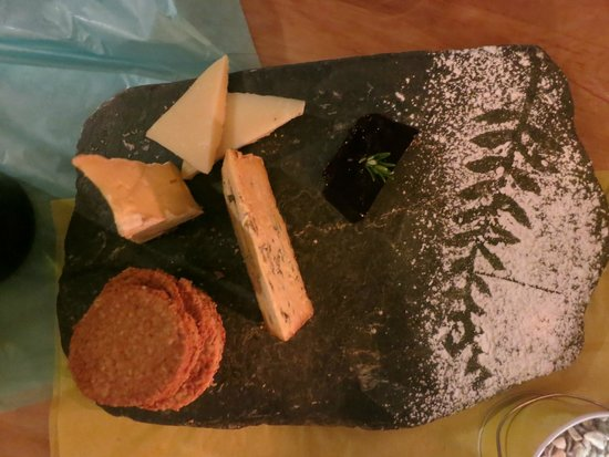 Vknow: Wonderful cheeseboard with home-made biscuits and quince paste,by Lizzie