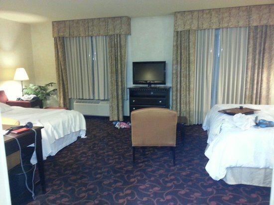 Hampton Inn & Suites Dallas-Arlington North-Entertainment District: King suite w/sofa bed view from the wash room.