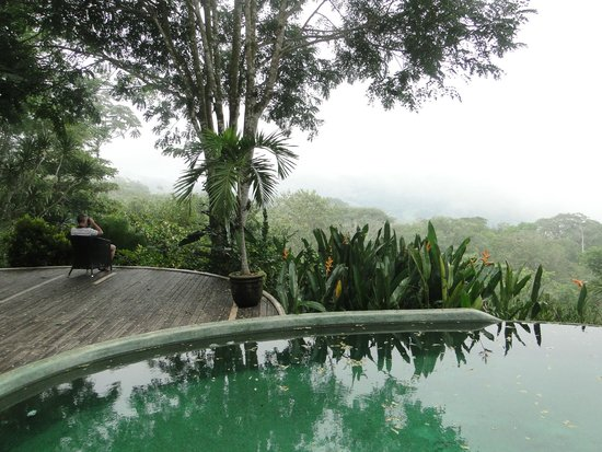 Las Nubes Natural Energy Resort: vue de la piscine