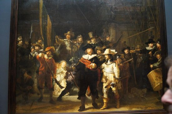 "Rijksmuseum (Museo Nacional de Ámsterdam): fameuse ""Ronde de nuit"" de rembrandt"